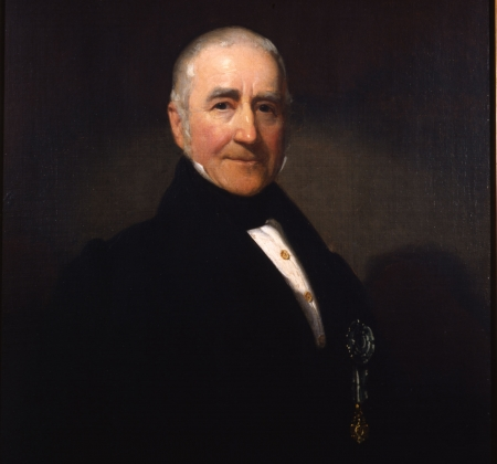 Painted portrait of Morgan Lewis.