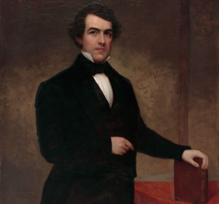 Painted portrait of Washington Hunt.