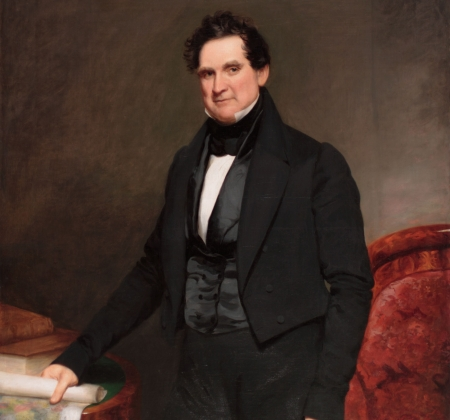 Painted portrait of William L. Marcy.