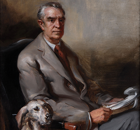 Painted portrait of W. Averell Harriman.