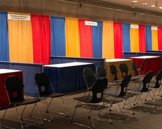 photo of exhibitor booths