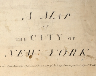 A Map of the City of New York 1807