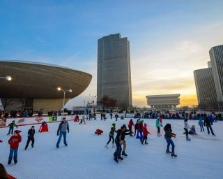 Empire state plaza ice rink