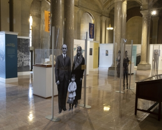View of the People of New York Exhibit in the New York State Capitol.