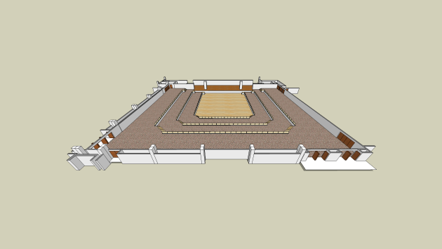 a rendering of the convention hall showing no tables set up and the entire space available for configuration