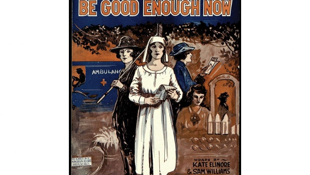 World War I sheet music cover.