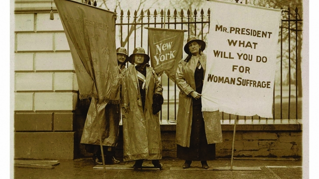 New York suffragettes demonstrating in Washington, D.C. c. 1917.
