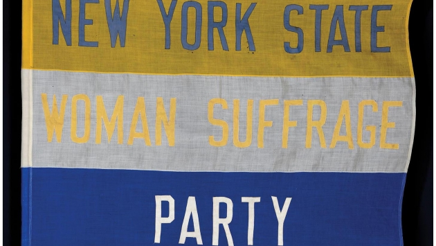 New York State Woman Suffrage Party Banner.