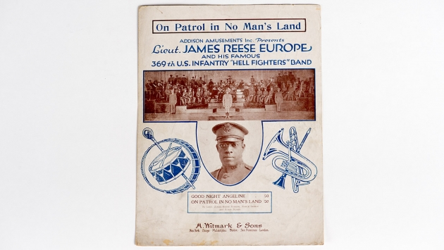 On Patrol in No-Man's Land music score cover