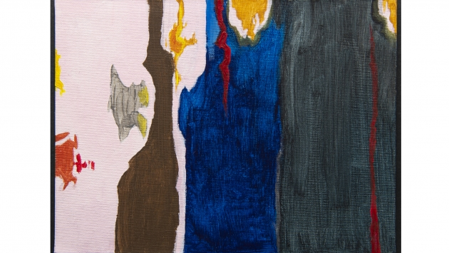 Artwork inspired by Clyfford Still.