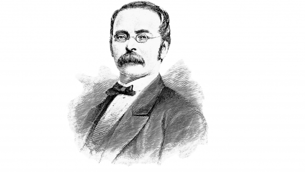 Etching of Henry Engelhard Steinway, founder of Steinway & Sons