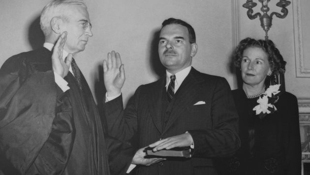Dewey Taking the Oath of Office