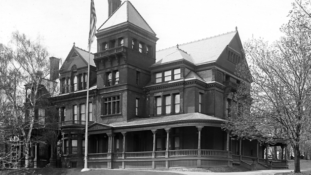 Exterior of the Executive Mansion, 1925.