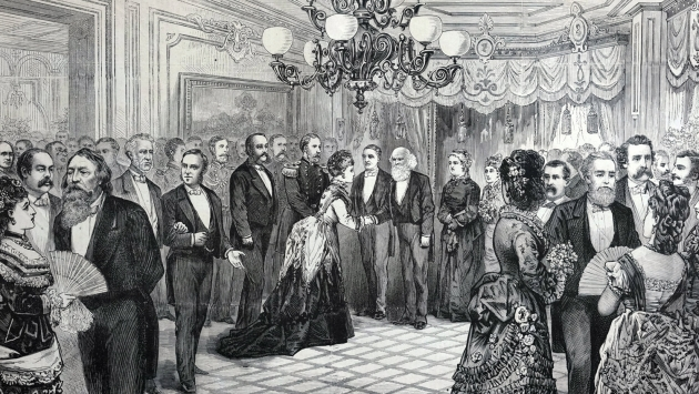 Governor Tilden hosted a grand reception for editor and poet William Cullen Bryant in 1875.