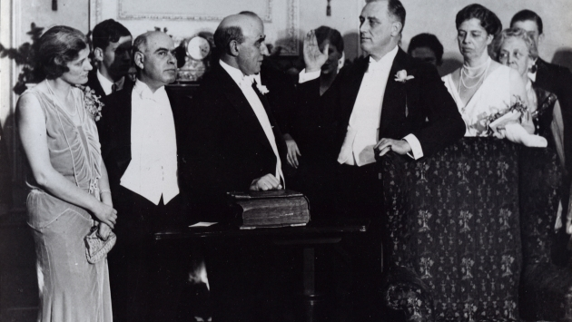 After serving in the NYS Senate, Franklin D. Roosevelt was sworn in as governor in 1929.