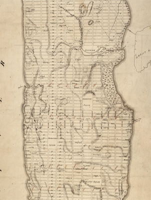 a map of new york city from 1811 showing the area that became central park