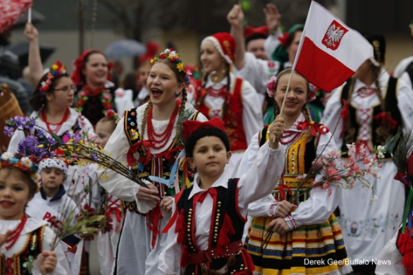 Dyngus Day Parade in Buffalo, NY.