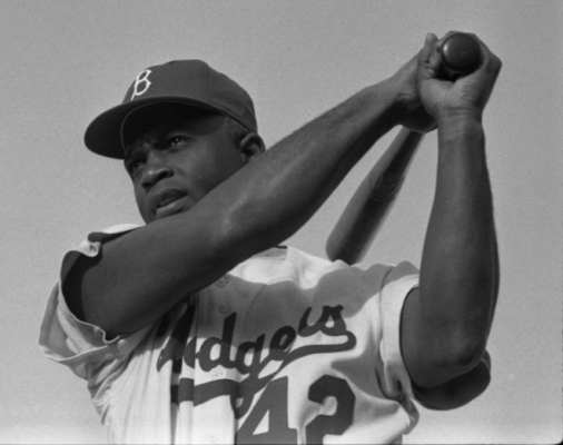 Photo of Jackie Robinson.