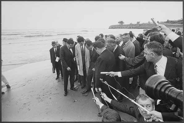 President Richard Nixon visiting the beach in March 1969.