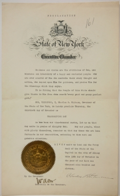 Thanksgiving Day Proclamation, 1916
