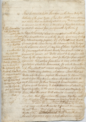 First Constitution of the State of New York, 1777
