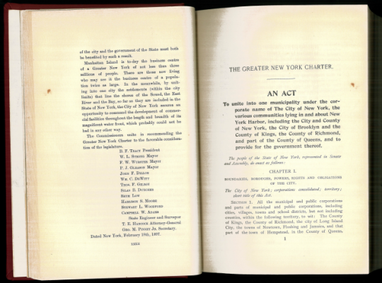 Greater New York City Charter, 1897