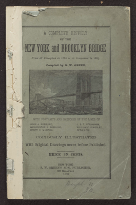 A History of New York and the Brooklyn Bridge, 1866-1883