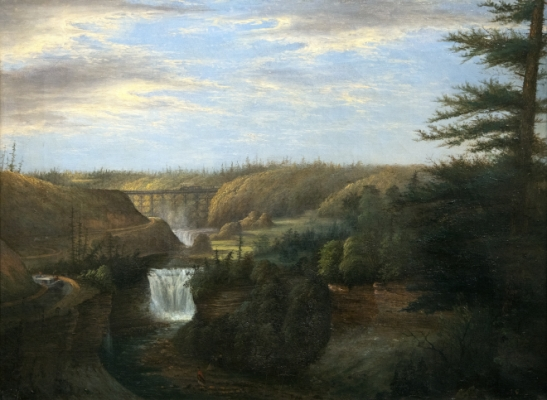 Letchworth Middle and Upper Falls, Genesee River Gorge Painting