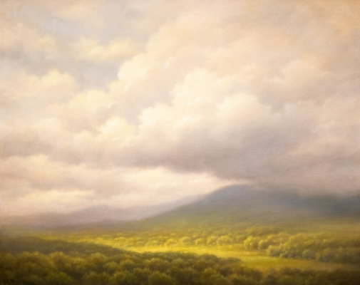 Clouds Over the Valley, 2009 Painting