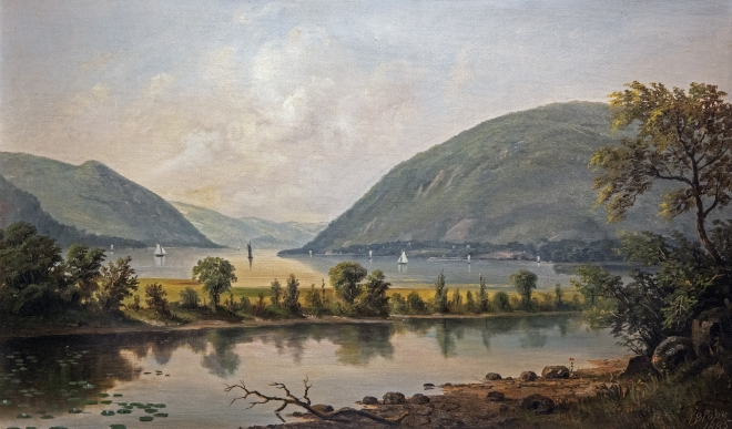 Foot of Storm King Mountain, 1880s Painting