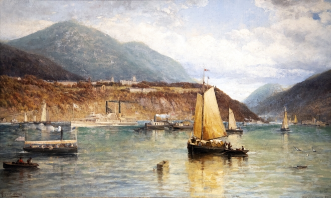 Hudson River at West Point Painting