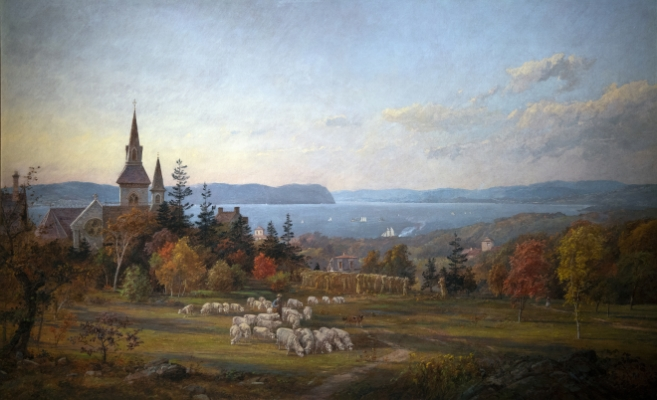 Hudson River from Miss Masters School Painting