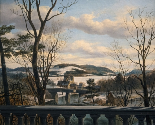 Cooperstown in Winter Painting