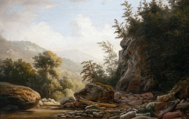 In the Mohawk Valley–East Canada Creek Painting