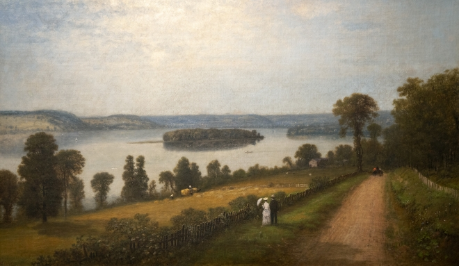 View of Lake Canadarago, by George W. King, ca 1880-1890 Painting