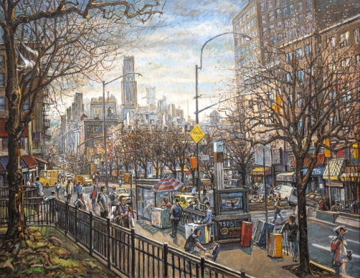138th Street & Broadway (Riverside Church) Painting