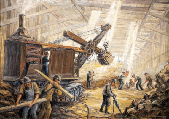 Building the 8th Avenue Subway Painting