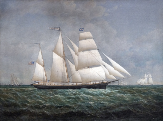 Barkentine William H. Vanderbilt Off Buffalo Painting