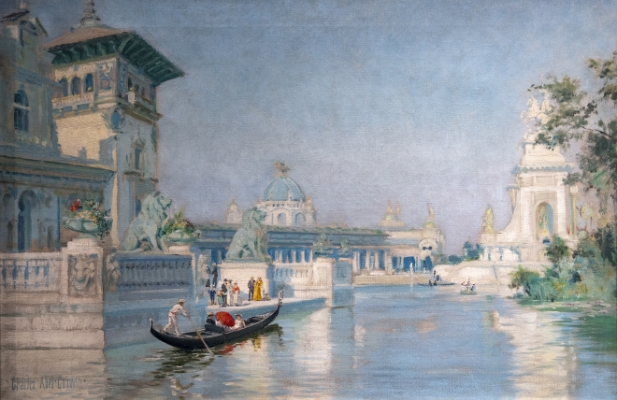 Scene at the Pan-American Exposition, 1901 Painting