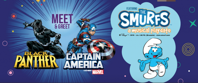 Featuring Black Panther, Captain America, and the Smurfs